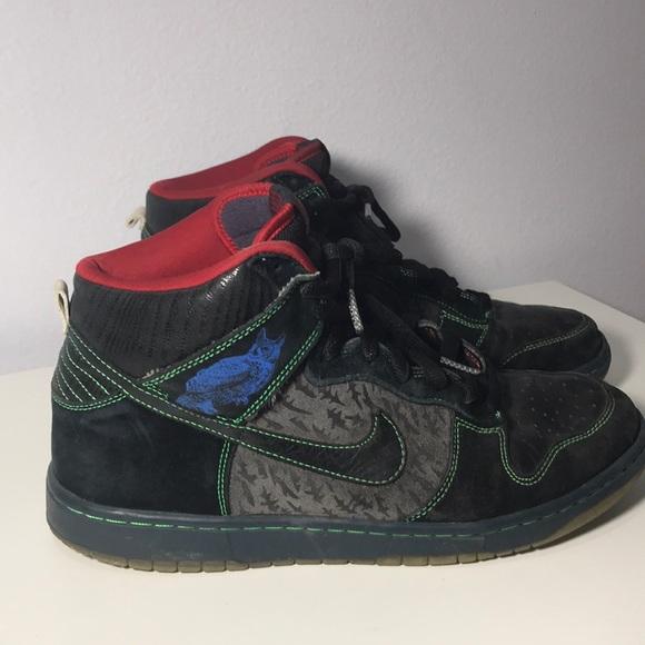 """Nike SB Dunk High """"Twin Peaks"""" Night Owl Size 11"""